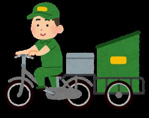 引越し後に郵便物を運んでくれる郵便局員