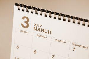 3月の引越しスケジュールを書いたカレンダー