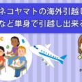 クロネコヤマトの海外引越し。留学をする際など単身で引越し出来る?