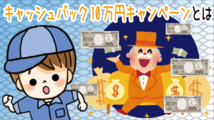 3 キャッシュバック10万円キャンペーンについて