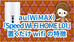 5 au(WiMAX)「Speed Wi-Fi HOME L01」の置くだけwifiの特徴