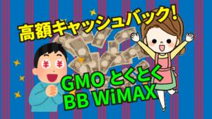 5.2 高額キャッシュバックあり!GMOとくとくBB WiMAX