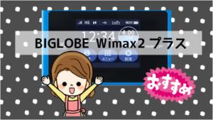 6 おすすめ④BIGLOBE Wimax2プラス