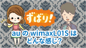 7.2 auのwimaxL01S はどんな感じ?